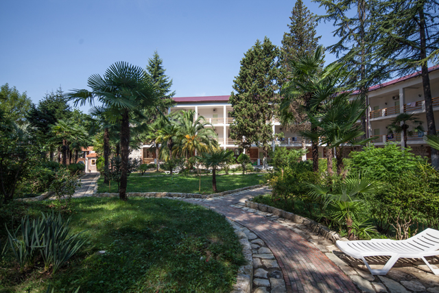 Same inner circle at Gora Bagrata park-hotel in Sukhum, Abkhazia